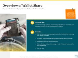 Category Share Overview Of Wallet Share Certain Customers Ppt Gallery