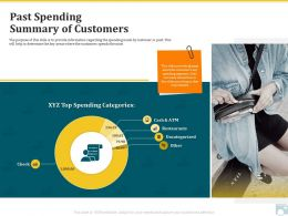 Category Share Past Spending Summary Of Customers Ppt Infographics