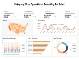 Category Wise Operational Reporting For Sales
