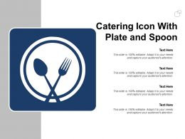 Catering Icon With Plate And Spoon