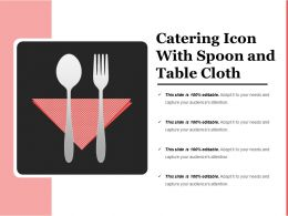 Catering Icon With Spoon And Table Cloth