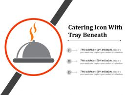 Catering Icon With Tray Beneath