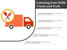 Catering Icon With Truck And Fork