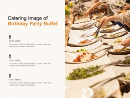Catering Image Of Birthday Party Buffet
