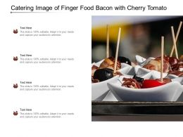 Catering Image Of Finger Food Bacon With Cherry Tomato