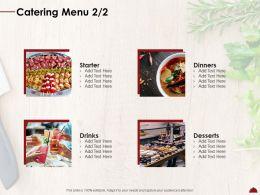 Catering Menu L2047 Ppt Powerpoint Presentation Ideas Master Slide