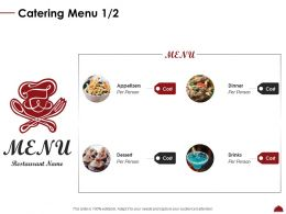 Catering Menu Per Ppt Powerpoint Presentation Gallery Slide Portrait