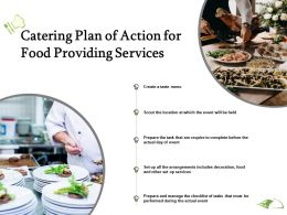 Catering Plan Of Action For Food Providing Services Ppt Powerpoint Presentation Slides