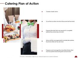 Catering Plan Of Action Ppt Powerpoint Presentation Summary Show