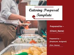 Catering Proposal Template Powerpoint Presentation Slides