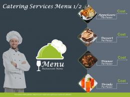 Catering Service Menu Cost Ppt Powerpoint Presentation Outline Introduction