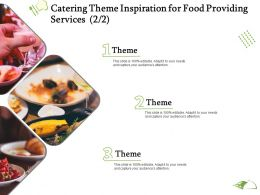 Catering Theme Inspiration For Food Providing Services Ppt Powerpoint Presentation Ideas