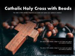 Catholic Holy Cross With Beads