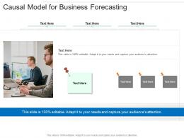 Causal Model For Business Forecasting Infographic Template