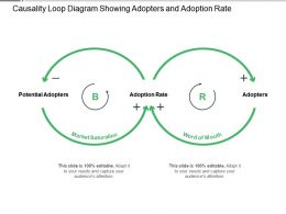 Causality Loop Diagram Showing Adopters And Adoption Rate