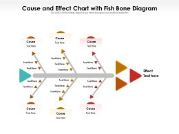 Cause And Effect Chart With Fish Bone Diagram