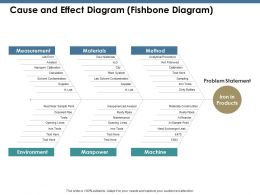 Cause And Effect Diagram Fishbone Diagram Ppt Summary Infographic Template