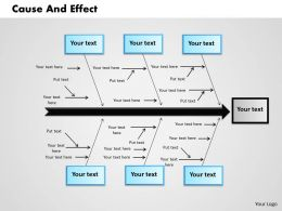 Cause And Effect powerpoint presentation slide template