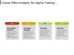 Cause Effect Analysis Six Sigma Training Management Quality System Cpb