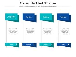 Cause Effect Text Structure Ppt Powerpoint Presentation Professional Clipart Cpb