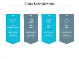 Cause Unemployment Ppt Powerpoint Presentation Slides Display Cpb