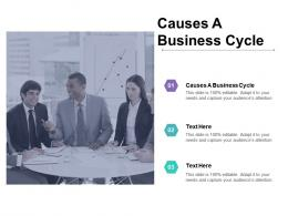 Causes A Business Cycle Ppt Powerpoint Presentation Icon Good Cpb