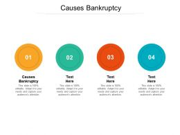 Causes Bankruptcy Ppt Powerpoint Presentation Ideas Design Inspiration Cpb