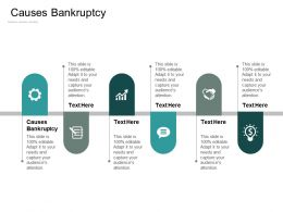Causes Bankruptcy Ppt Powerpoint Presentation Pictures Slides Cpb