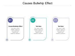 Causes Bullwhip Effect Ppt Powerpoint Presentation Inspiration Examples Cpb