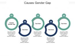 Causes Gender Gap Ppt Powerpoint Presentation File Example Introduction Cpb