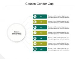 Causes Gender Gap Ppt Powerpoint Presentation Outline Format Ideas Cpb