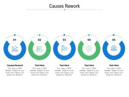 Causes Rework Ppt Powerpoint Presentation Ideas Layout Cpb