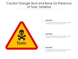 Caution Danger Skull And Bone For Presence Of Toxic Material