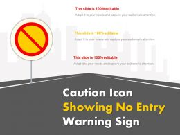 Caution Icon Showing No Entry Warning Sign