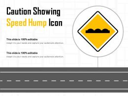 Caution Showing Speed Hump Icon