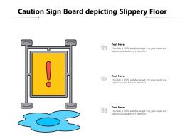 Caution Sign Board Depicting Slippery Floor