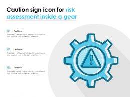 Caution Sign Icon For Risk Assessment Inside A Gear