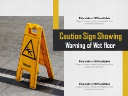 Caution Sign Showing Warning Of Wet Floor