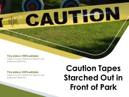 Caution Tapes Starched Out In Front Of Park