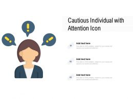 Cautious Individual With Attention Icon