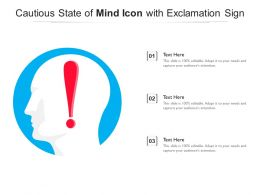 Cautious State Of Mind Icon With Exclamation Sign