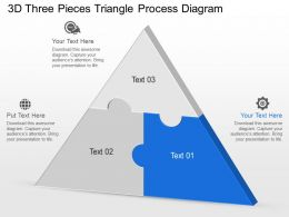 puzzles pieces that fit into a triangle category powerpoint