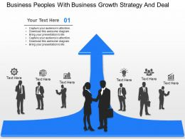 cb Business Peoples With Business Growth Strategy And Deal Powerpoint Template