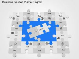 cb Business Solution Puzzle Diagram Powerpoint Template