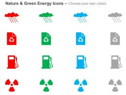 Cb Cloud With Recycle Petrol Pump For Green Energy And Nature Ppt Icons Graphics
