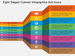 Cb Eight Staged Colored Infographics And Icons Flat Powerpoint Design