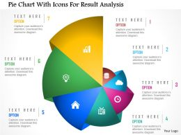 Cb Pie Chart With Icons For Result Analysis Powerpoint Template