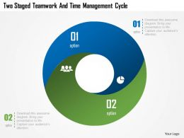 Cb Two Staged Teamwork And Time Management Cycle Powerpoint Template