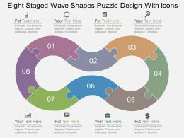 Cc Eight Staged Wave Shapes Puzzle Design With Icons Flat Powerpoint Design