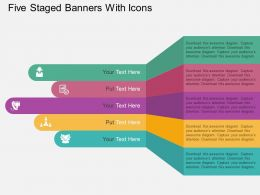 Cc Five Staged Banners With Icons Flat Powerpoint Design